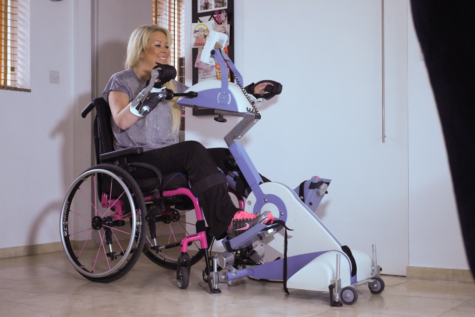 Electrical stimulation therapy is a life-changer for paralysed former glamour girl