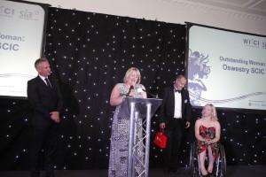 Rebecca Dytor accepting award