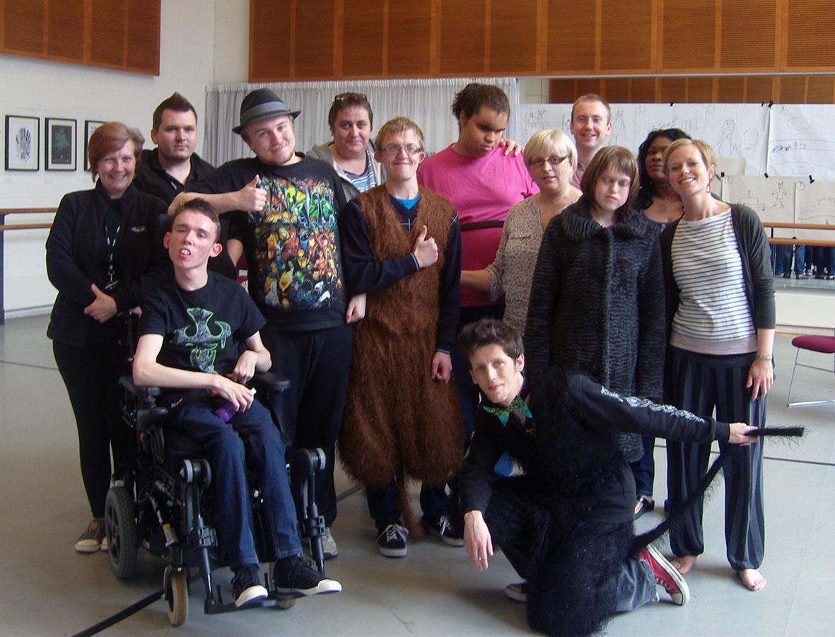 Create help deaflblind children develop drama skills