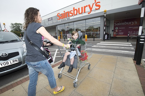 Disability Trolley /Maria Box with her son Ryan 5yrs