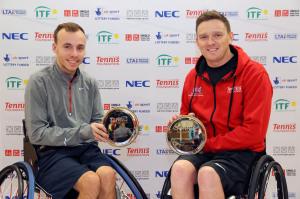 Burdekin, Lapthorne and Shuker, Whiley win Nottingham Indoor titles as Alcott wins quad singles