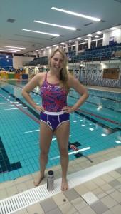 Stephanie Millward wears her #purplepants
