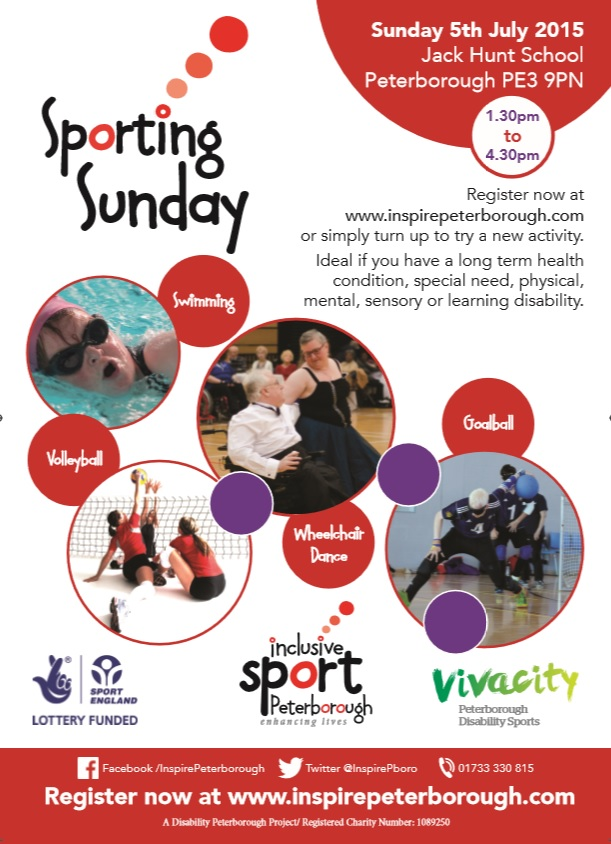 Inspire Peterborough launch Sporting Sunday