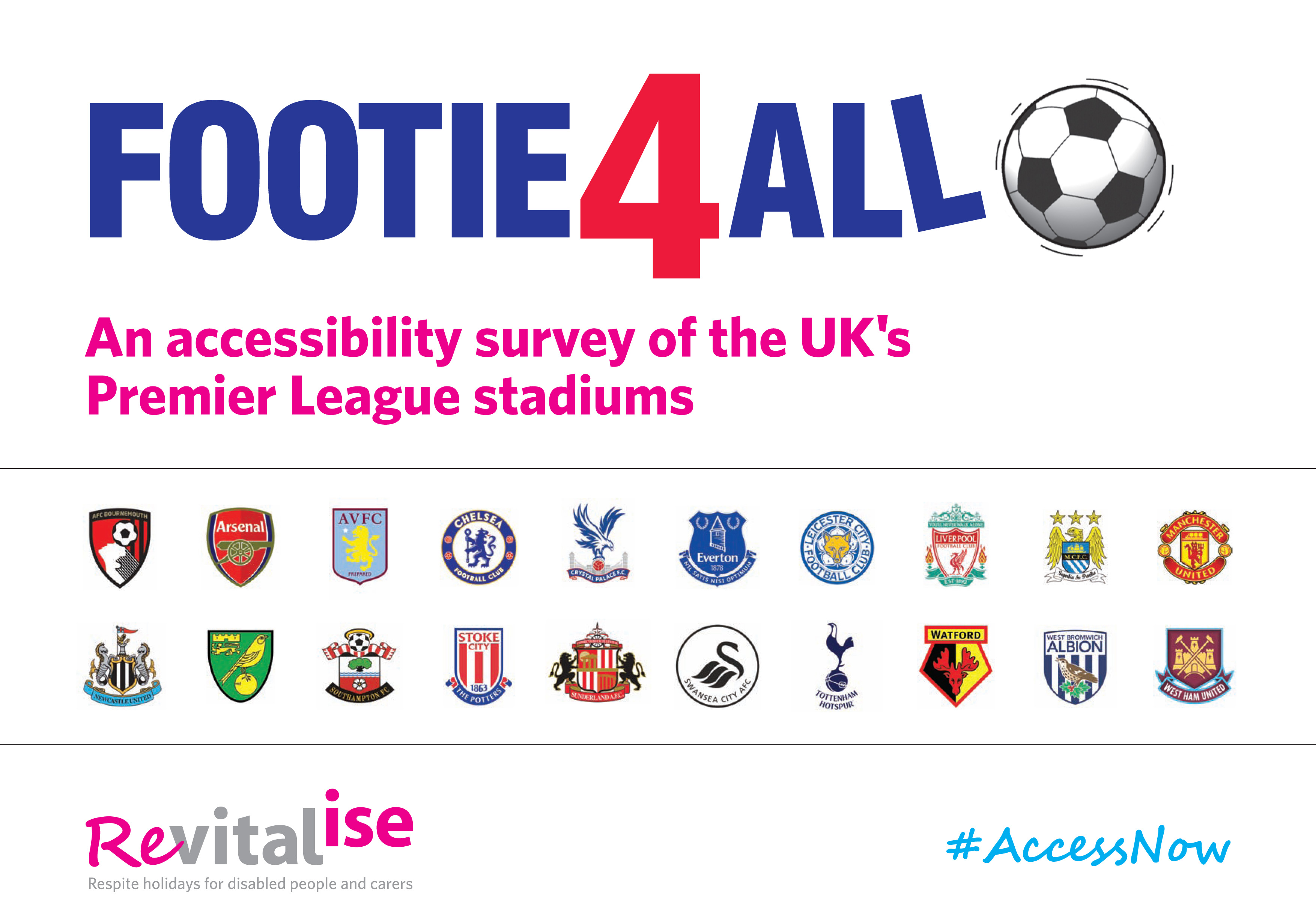 Top football clubs failing disabled supporters