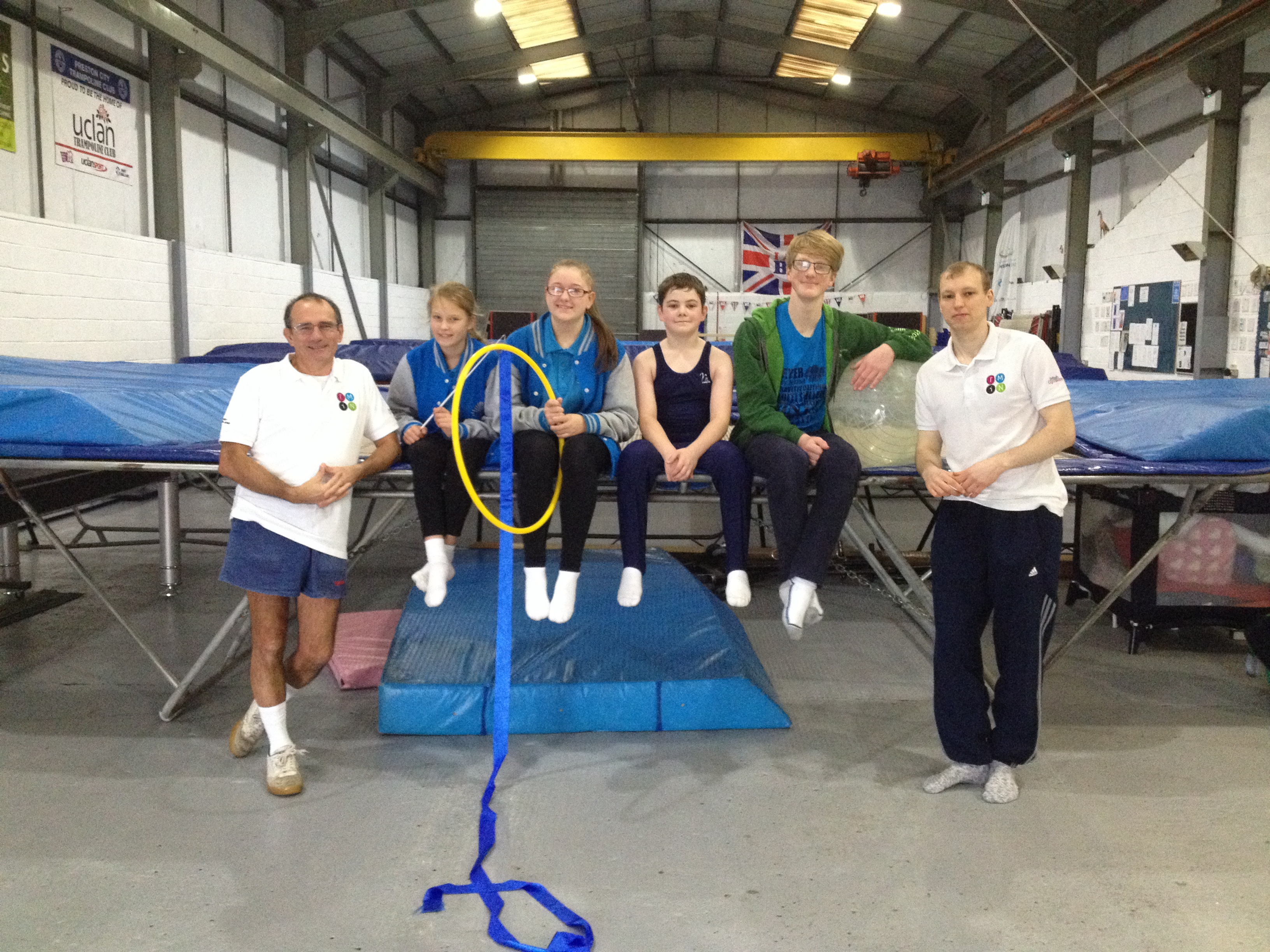 UK Deaf Sport award Preston Trampoline club