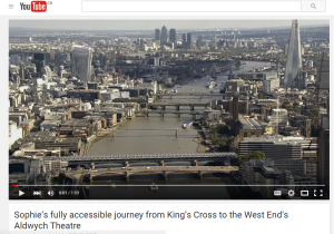 Capture of Sophie Morgan's accessible travel film, Transport for London
