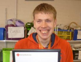 Volunteer Celebrates Red Cross Week with 10 Year Service Award