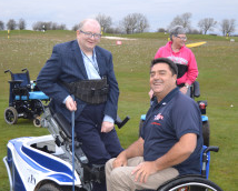 Wheelchair User In Full Swing With Pioneering Technology