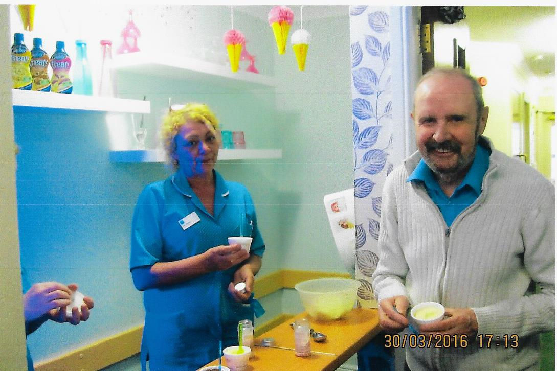 Care home residents cone-tent with new ice cream parlour