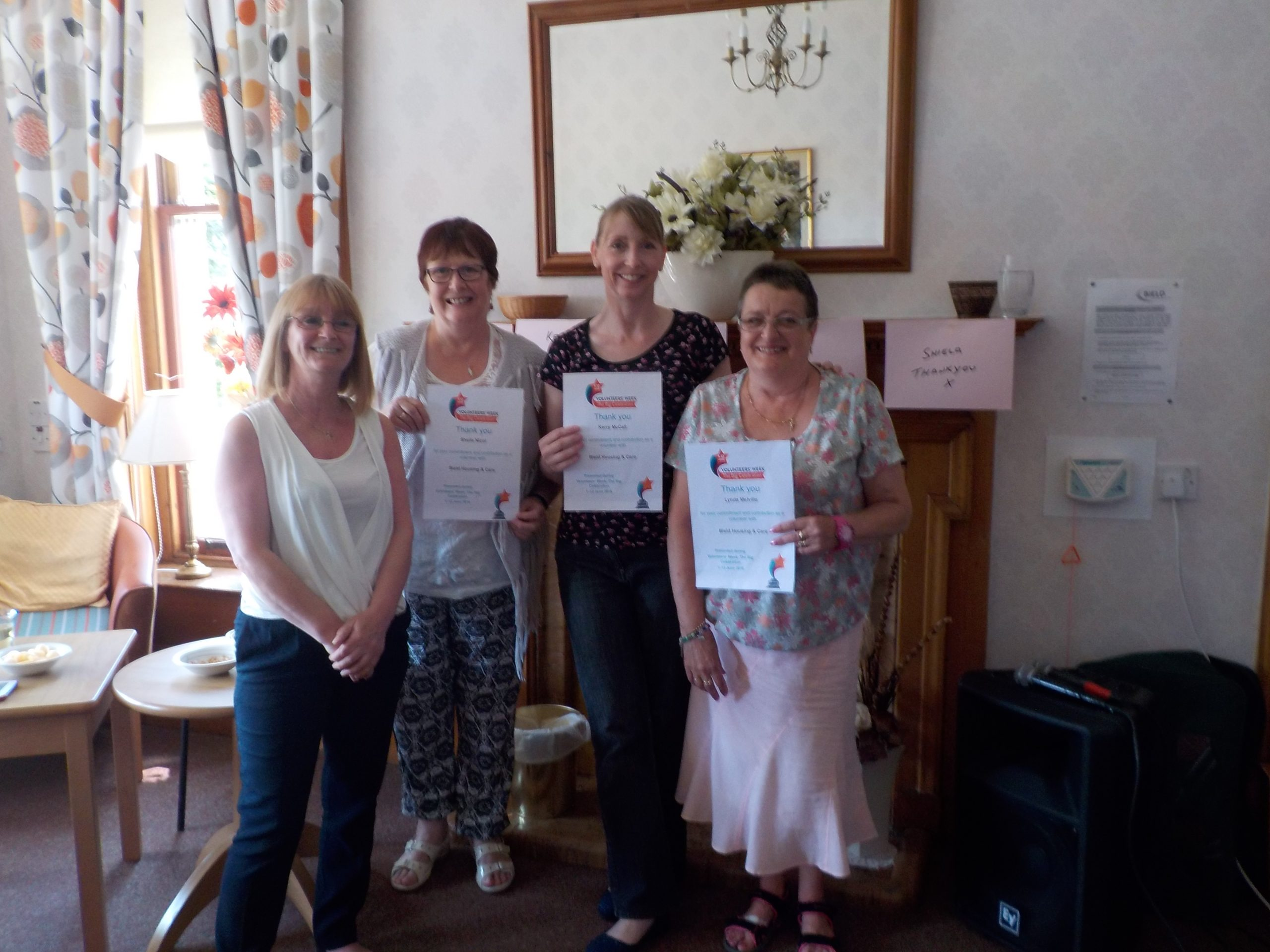 On-Song Volunteers Are Given Thanks at Bield