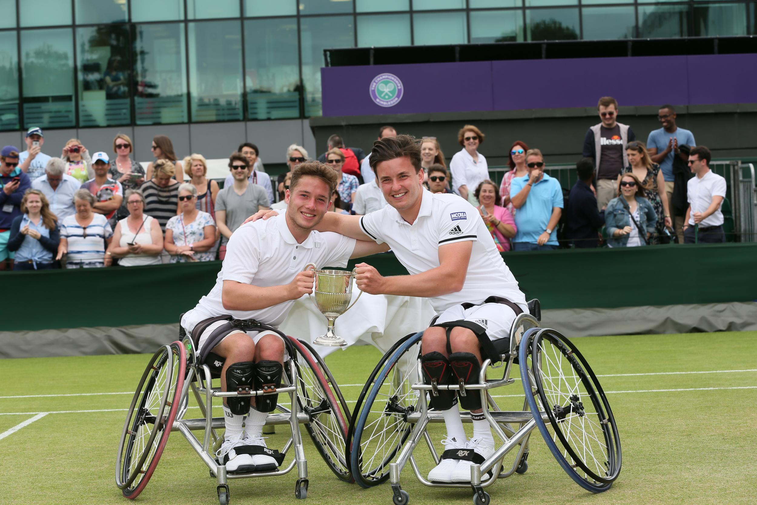 Reid and Hewett win historic Wimbledon wheelchair tennis doubles title