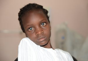 Whitney (8 years old) has cataracts in both of her eyes. Whitney lives with her mother Sarah (38) and her two siblings in a village North of Uganda´s capital Kampala. They rent a small house. In the past Whitney was on and off pre-school because of her poor vision. At home she plays and interacts with other children – but her participation in games is limited. Most of the chores she cannot do. The family hasn't been able to afford treatment for Whitney so far. But the girl will now receive cataract surgery through CBM partner Mengo Eye hospital. Please refer to her story for more information.