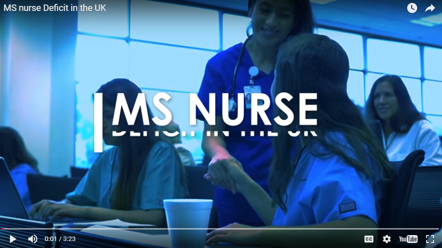 2 out of 3 people with MS live in an area with a shortage of MS nurses