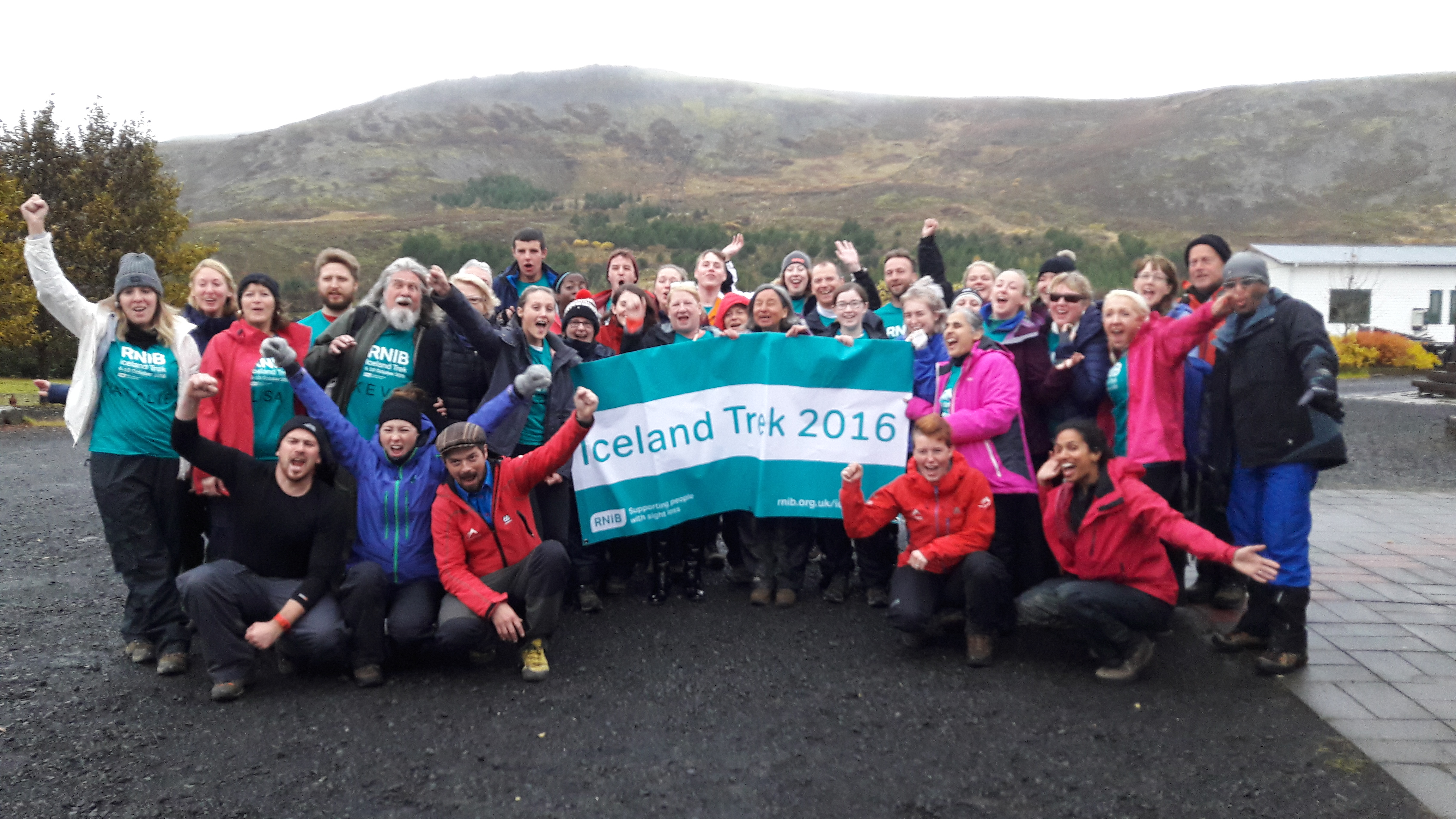 Blind senior RNIB leaders trek across Iceland to support people living with sight loss
