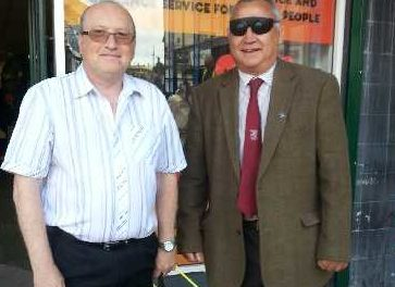 Barnsley Councillor goes on a 'blindfold' walk