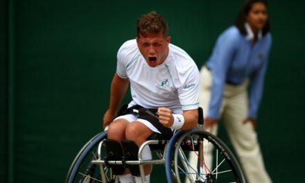Alfie Hewett reaches first Wimbledon wheelchair tennis singles semi-final