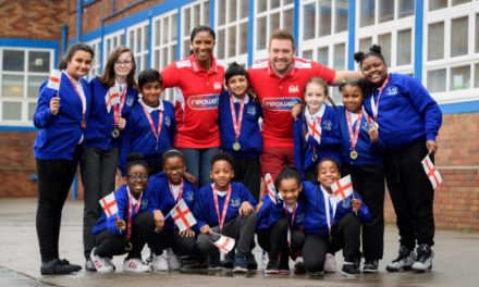 Denise Lewis OBE, Paralympian Dan Greaves and npower inspire school children to support Team England