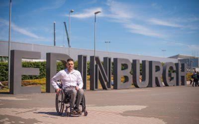 Edinburgh Airport offering wheelAIR cooling cushions