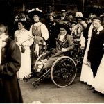Rosa May Billinghurst with suffragettes