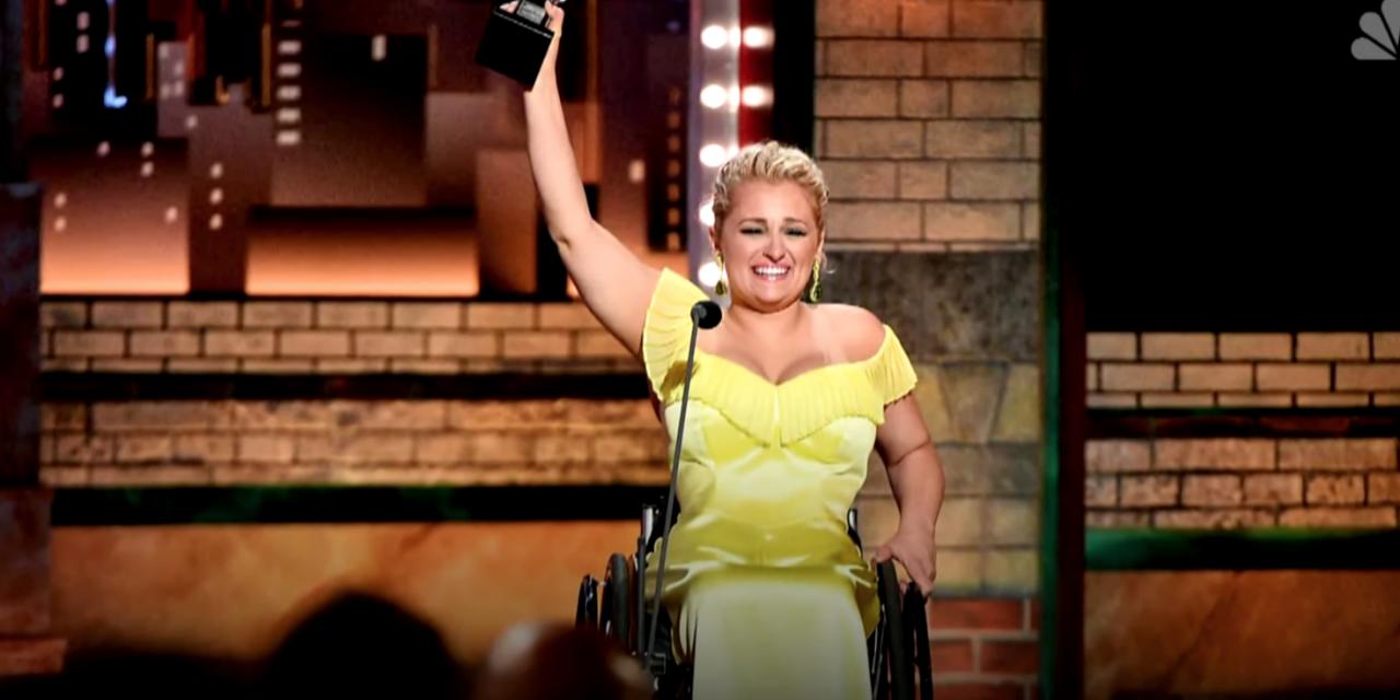 Disabled actor makes history as she wins a Tony Award