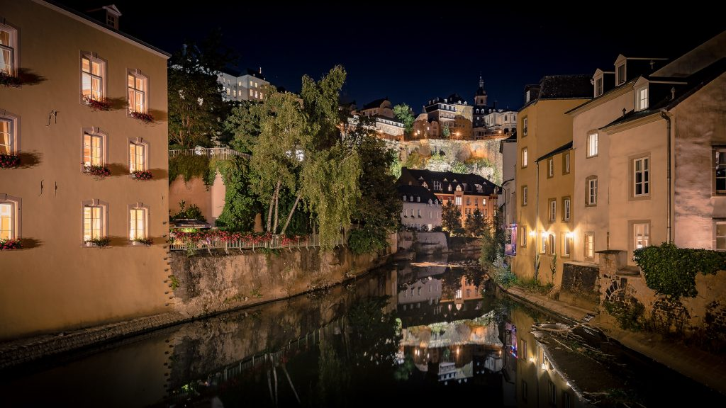 Luxembourg at night