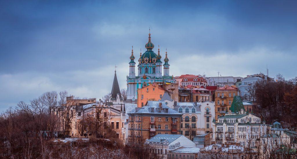Russian Orthodox church in the centre of Kiev