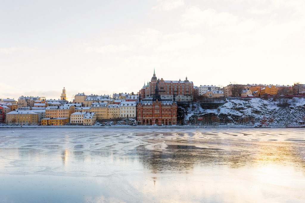 Stockholm in the snow