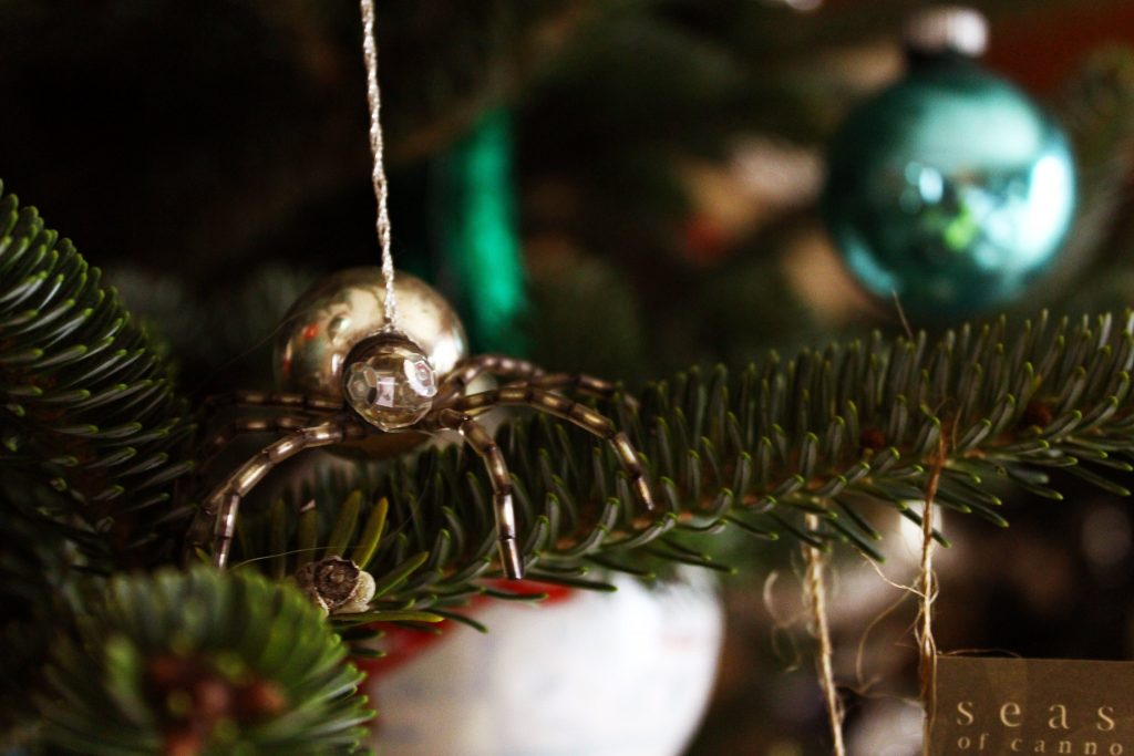 Christmas spider on a tree