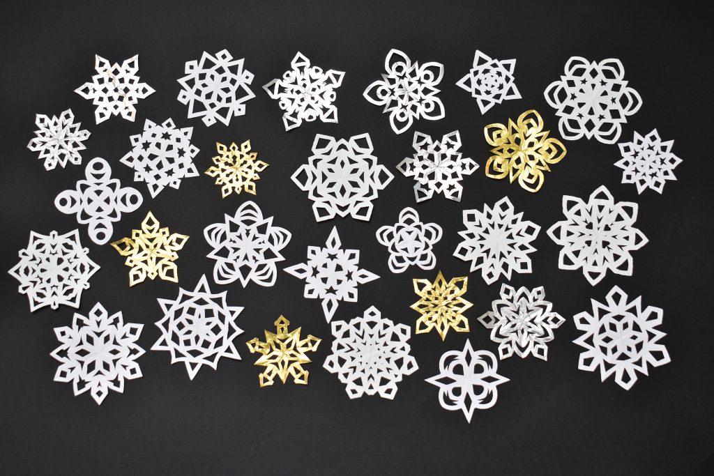 Paper snowflake crafts