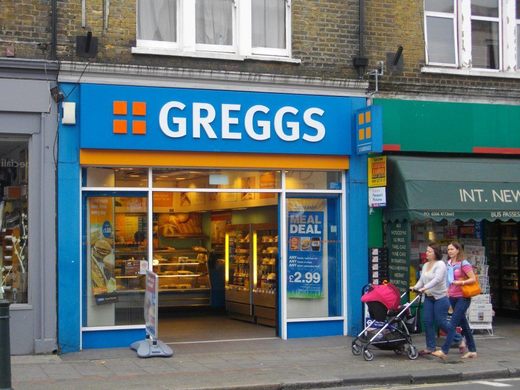 A Greggs the baker located on a London high street