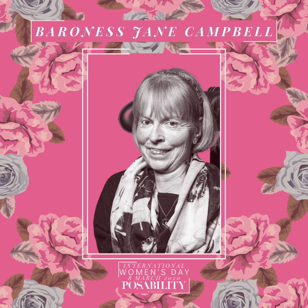 Baroness Jane Campbell International Women's Day