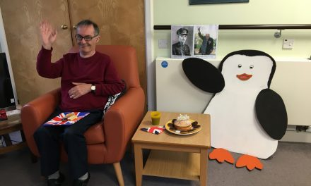 Smiley the penguin helps social distancing