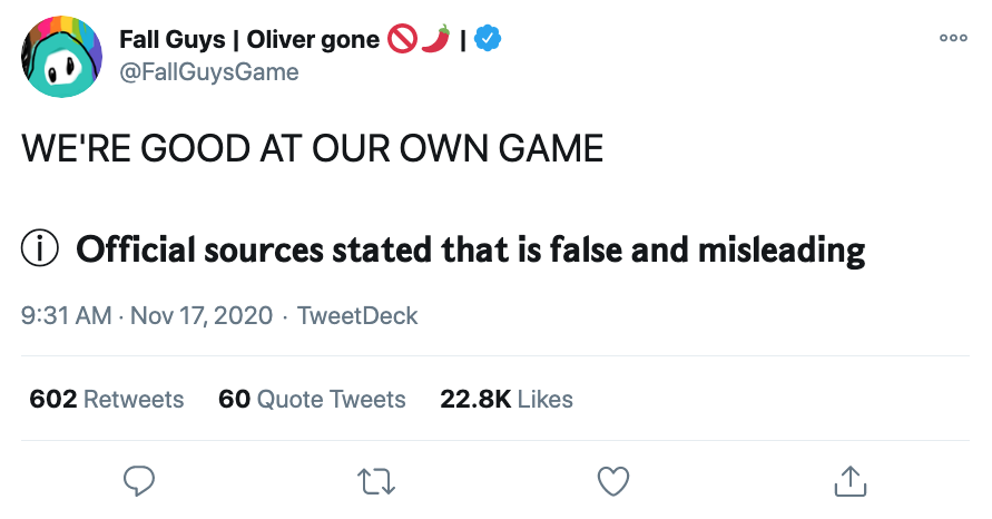 """""""Official Sources"""" meme falls flat with screen readers"""
