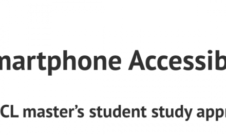 Call for participants for smartphone accessibility study