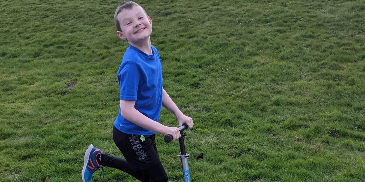 Life-changing leggings for nine-year-old Alex