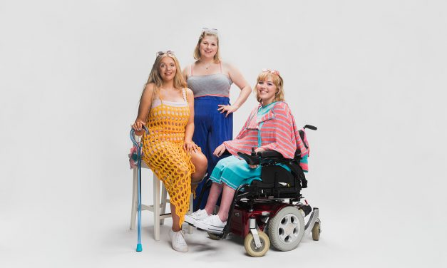 Fashion student with CP designs inclusive collection