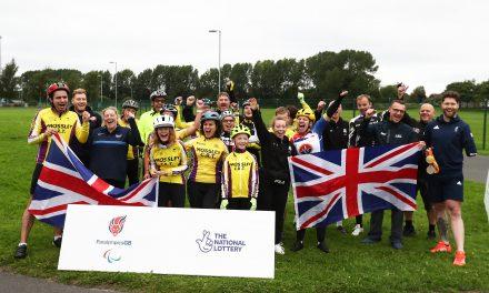 Sarah Storey inspires budding cyclists